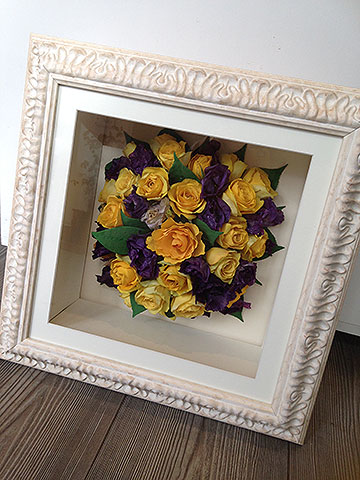 Preserved flower frame